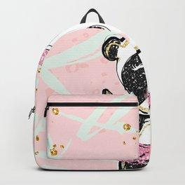 Cute Panda Gold Glitter Backpack
