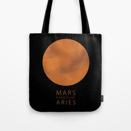 Aries - Ruling Planet Mars Tote Bag