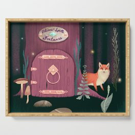 Sorcerer Of Woodland Charms Potions Spells And Fortunes Serving Tray
