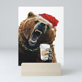 Grizzly Mornings Christmas Mini Art Print