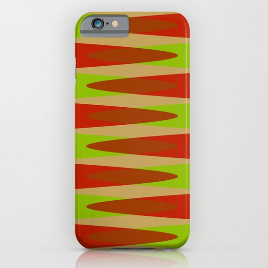 Retro Pattern green red iPhone & iPod Case