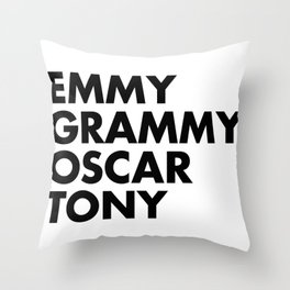 EGOT Throw Pillow