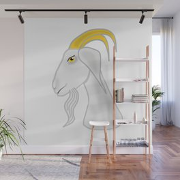 White goat head Wall Mural