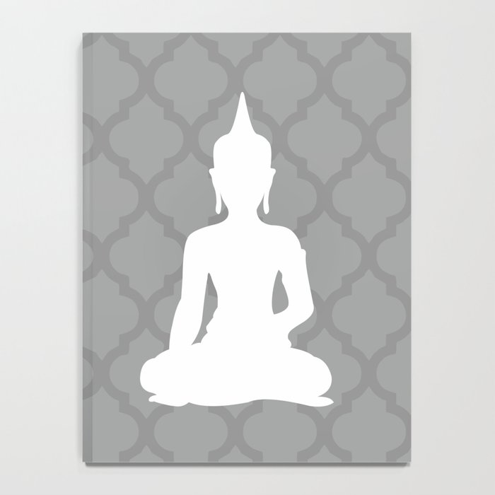Grey and White Buddha Notebook