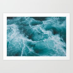 Electric Ocean Art Print