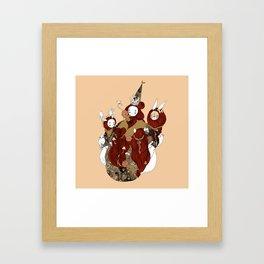 pagan circle Framed Art Print
