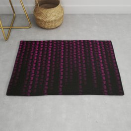 Hot Neon Pink Machix Datastream Code Rug