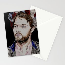 Misha Collins 2., acrylic painting Stationery Cards
