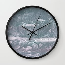 Light slate gray stained watercolor Wall Clock