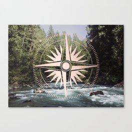 Rose Gold River Adventure Canvas Print