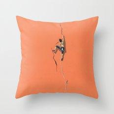 Climbing: Solitude Throw Pillow