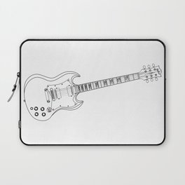 Solid Guitar Line Drawing Laptop Sleeve