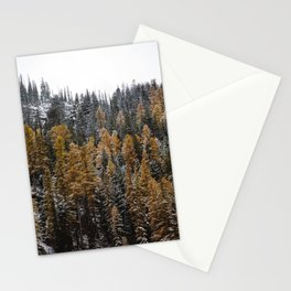 Larches in Snow Stationery Cards