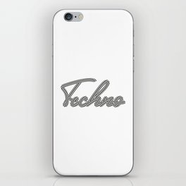 Techno iPhone Skin