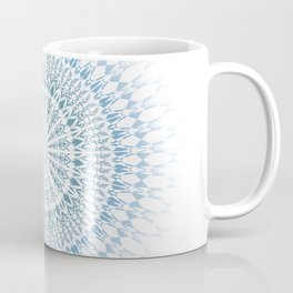 Blue White Geometric Mandala Coffee Mug