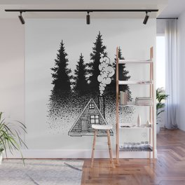 House in the woods Wall Mural