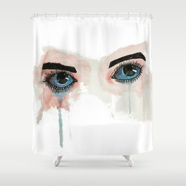 Painted eyes Shower Curtain