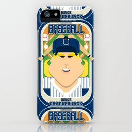 Baseball Blue Pinstripes - Deuce Crackerjack - Hazel version iPhone Case