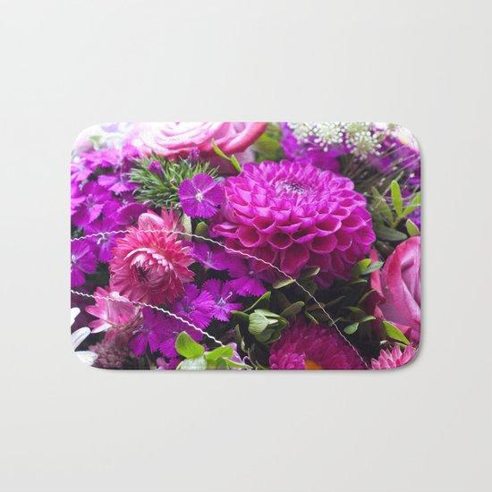 Pink flower bouquet #1 #decor #art #society6 Bath Mat