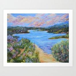 Hidden Beaches Art Print