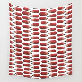 lying pencils Wall Tapestry