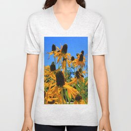 Yellow Flowers Unisex V-Neck