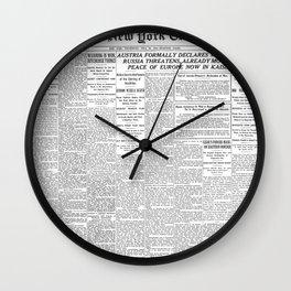Extra Extra! Wall Clock