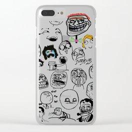 Meme Faces Clear iPhone Case