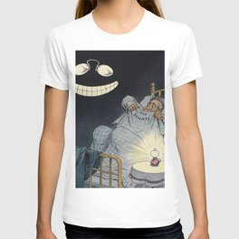 The Latest Thing in Nightmares by John S Pughe (1870-1909) a commentary cartoon with eyeglasses and T-shirt