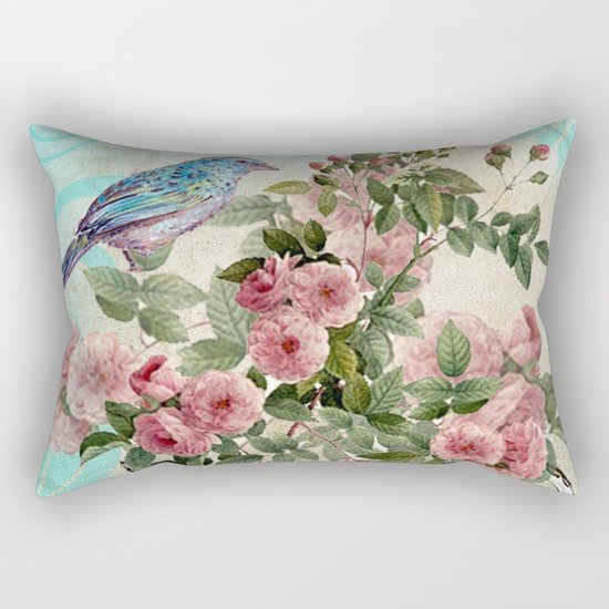 Tea Flower #1 Rectangular Pillow