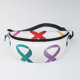 Cancer Awareness Ribbons Fanny Pack