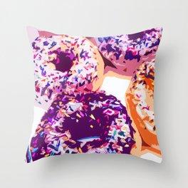 Donut-Fest Throw Pillow