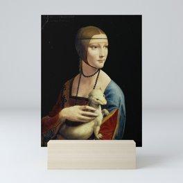 Leonardo da Vinci - The Lady with an Ermine Mini Art Print