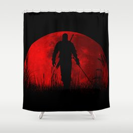 Red Moon Shower Curtain