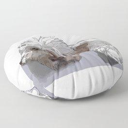 Old English Sheep Dog (white) Floor Pillow