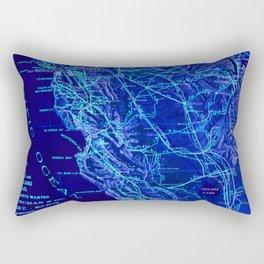 Blue California map, 1894. Rectangular Pillow