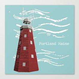 Portland Maine Observatory Canvas Print