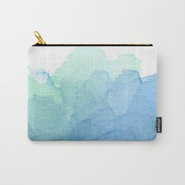 Abstract Watercolor Texture Blue Green Sea Sky Colors Carry-All Pouch