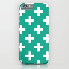 Emerald and White Plus Signs  Slim Case iPhone 6s