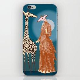 Giraffes - Late night rendezvous iPhone Skin
