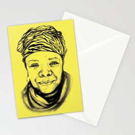Maya Angelou - (yellow) Sketch to Digital Stationery Cards