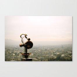Paris in the Fog Canvas Print