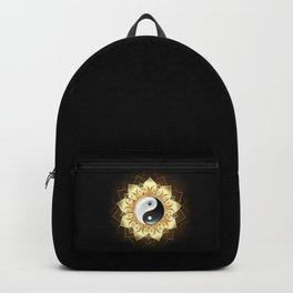 Yin Yang Golden Lotus Backpack
