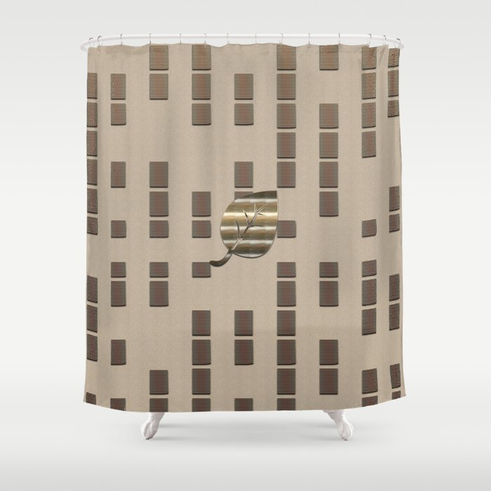 Decorative Gold Leaf Shower Curtain