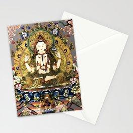 Chenrezig Avalokitesvara Bodhisattva Tibetan Buddhist Gray Stationery Cards