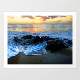 Sunset @ Rincon Art Print