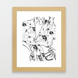 Fashionista || #illustration #fashion Framed Art Print