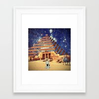 pyramid Framed Art Prints featuring Pyramid by Cs025