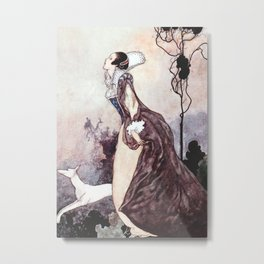 """""""Some Glory In Their Birth"""" Fairy Art by Charles Robinson Metal Print"""