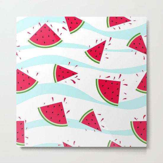 Watermelon pattern . Retro . Metal Print